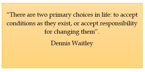Dennis Waitley, choice and responsibility
