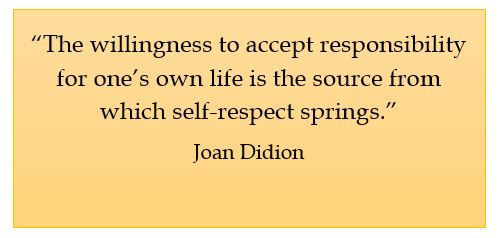 Joan Didion, self-respect and responsibility