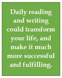 Reading and writing for success and happiness